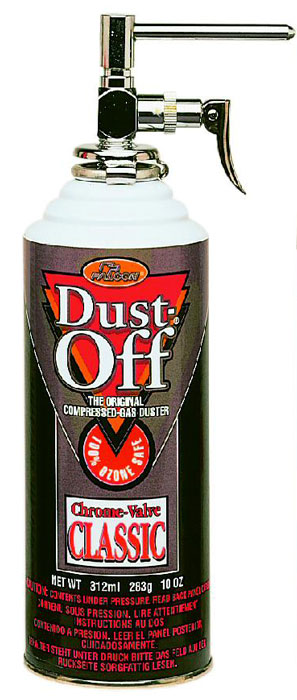 Dust-Off 100% Ozone Safe with Chrome Nozzle