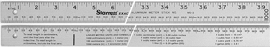 1261ME - Two-Sided Aluminum Meter Stick