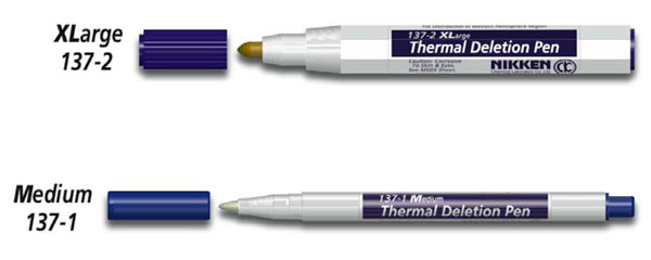 Nikken Thermal Plate Deletion Pens