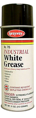 Sprayway #715 White Lithium Grease Lubricant Spray
