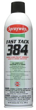 Sprayway #384 Fast Tack Super Flash Pallet Adhesive